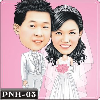 Q版人像繪圖情侶Q版繪圖情侶Q版繪圖PNH-03